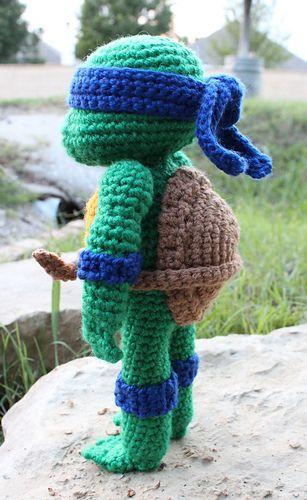 Amigurumi Teenage Mutant Ninja Turtle Free Crochet Pattern