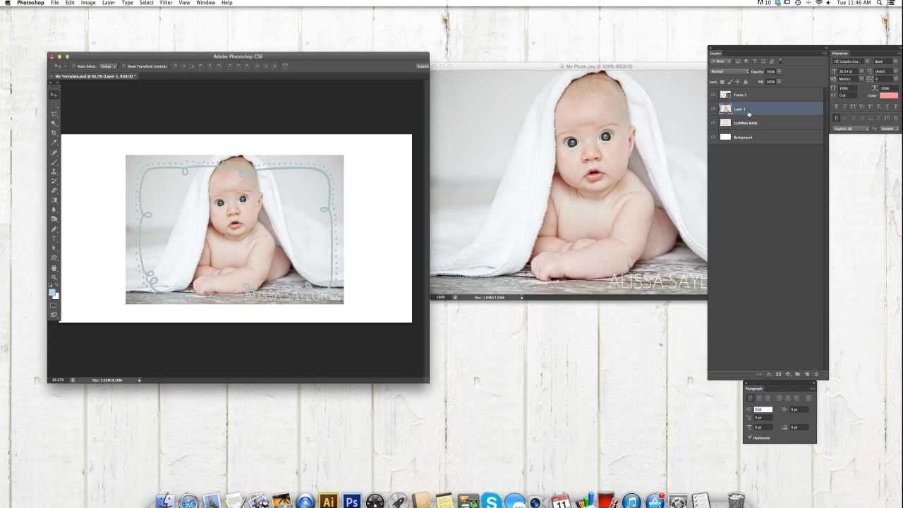 How to insert your photos into Clipping Masks in