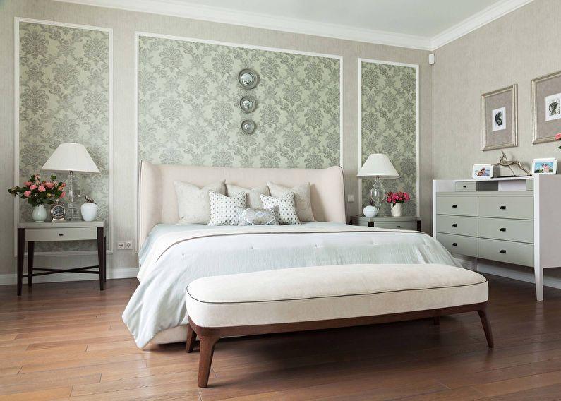 Обои для спальни (65 фото), комбинирование обоев в спальне ...