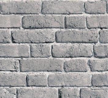 KOZIEL - Ash grey brick wallpaper