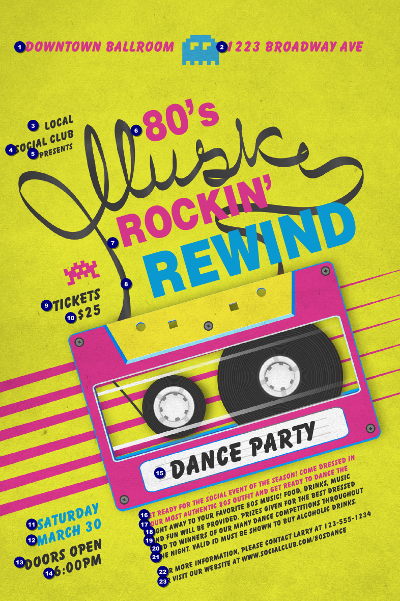 90s poster design - 80s Music Poster Large Png 786 1179