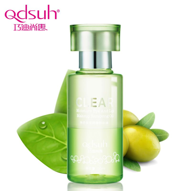 Qdsuh Clear Moisture Eye & Lip Makeup Removing Oil Makeup Remover Gentle Natural Skin Care