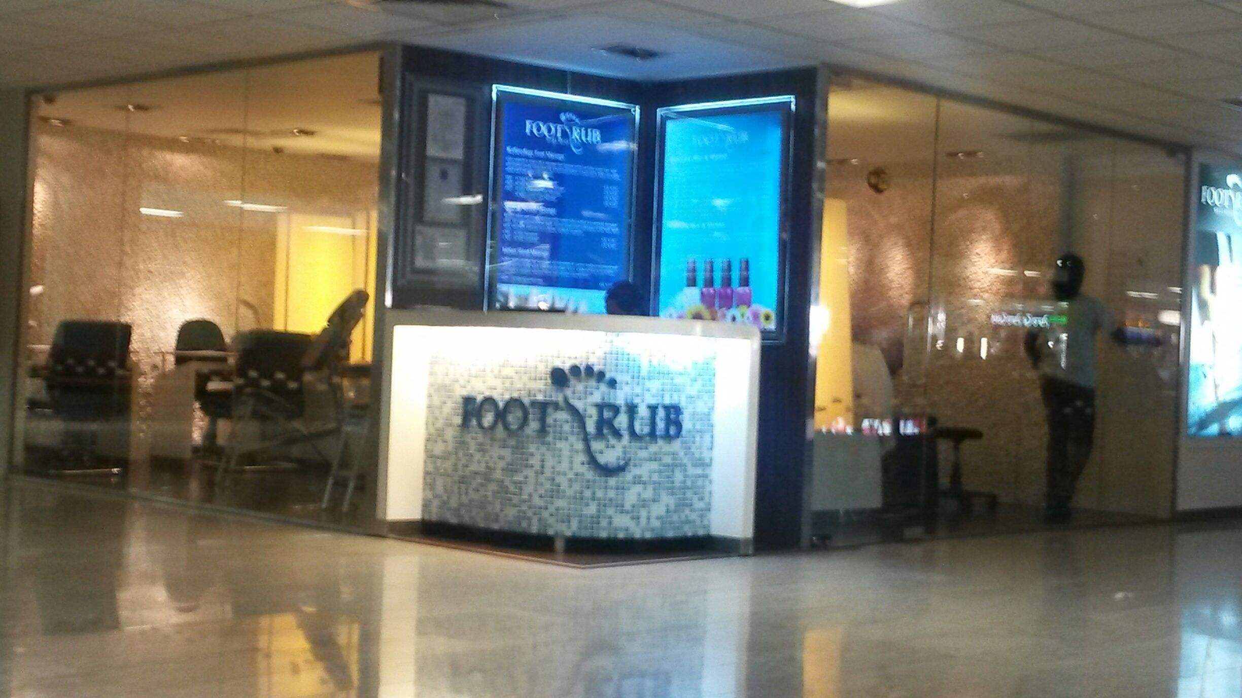 Foot Rub reception Foot spa, Rubs, Flat screen