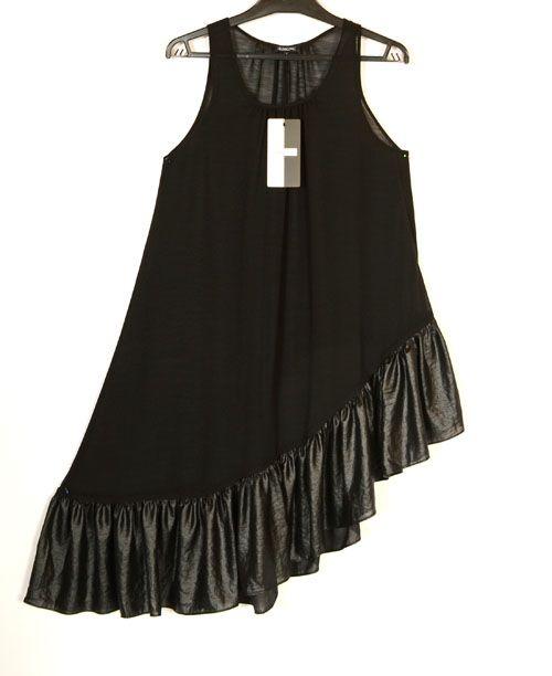 Hebbeding Fabulous Dejima Black Crepe Asymmetric Tunic/Dress