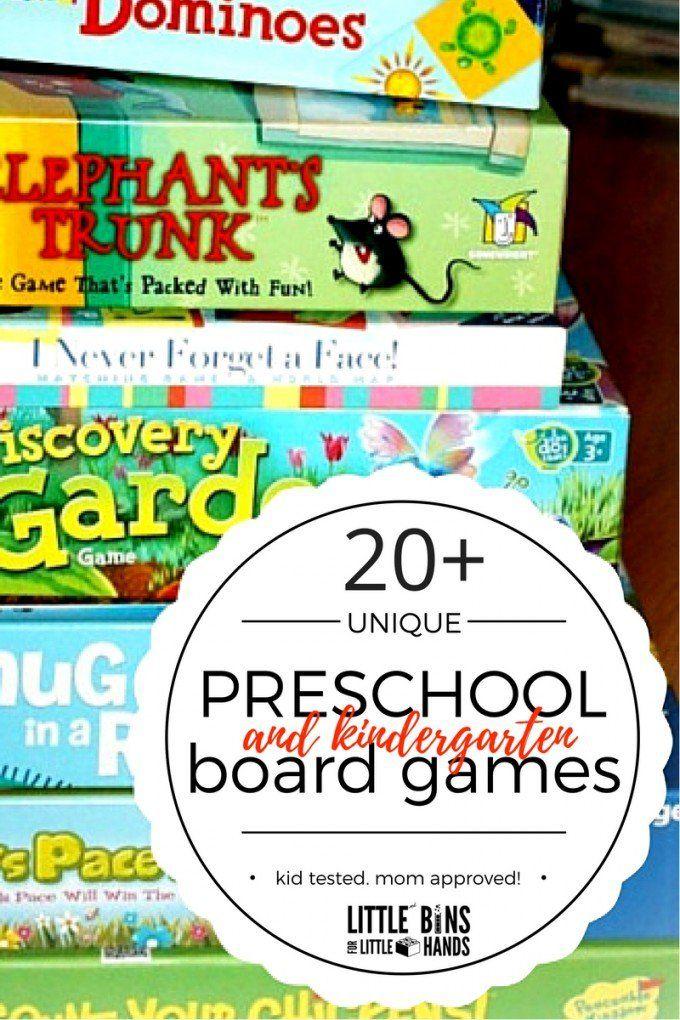 Best Board Games For 4 Year Olds Kindergarten Games Preschool