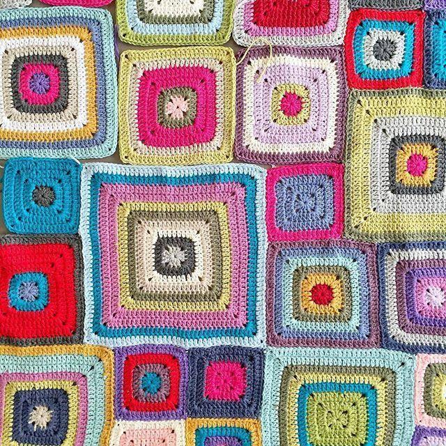 Elsie + Emma A Beautiful Mess @abeautifulmess Granny squares ...Instagram photo | Websta (Webstagram)