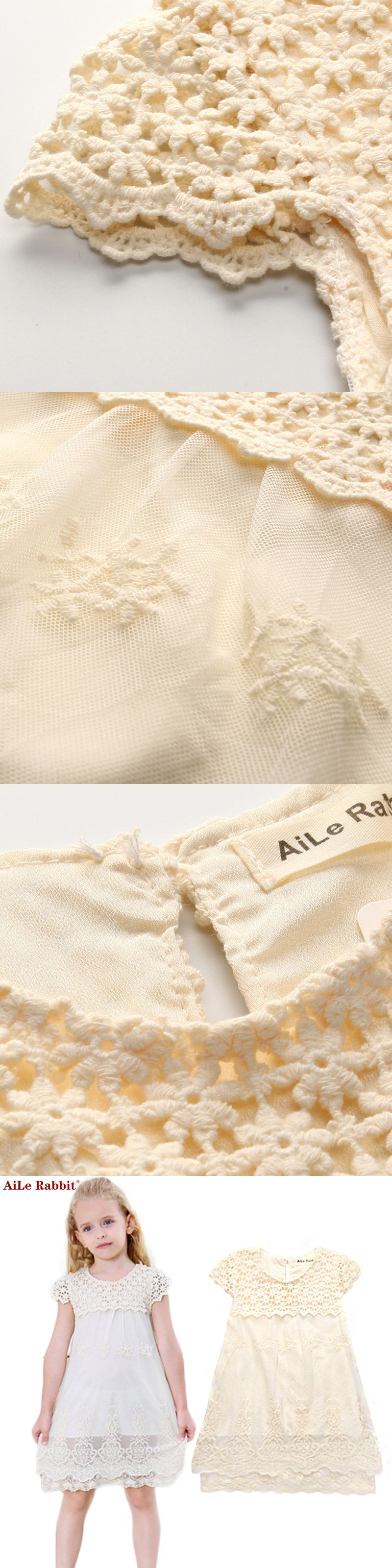 273a125078 AiLe Rabbit Girls Dress Summer Children Fashion Lace Princess Dress ...