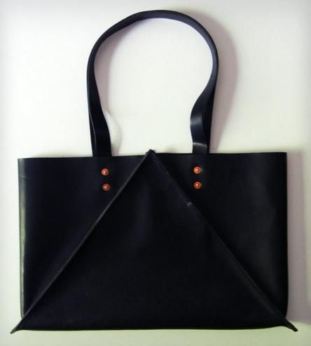 Wide Leather Tote