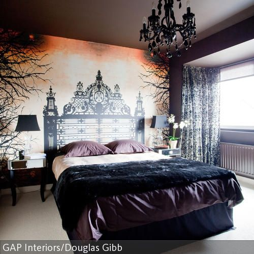 Aufgemaltes Betthaupt im neobarocken Stil Wall decor, Bedrooms and - schlafzimmer barock