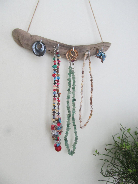 16 Hooks Wall Key Rack Stylish Key Holder Driftwood Jewelry Holder