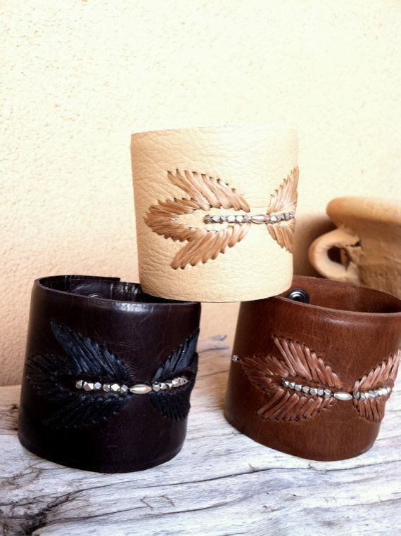 Handcrafted Leather Cuff by gremillionleather on Etsy, $135.00