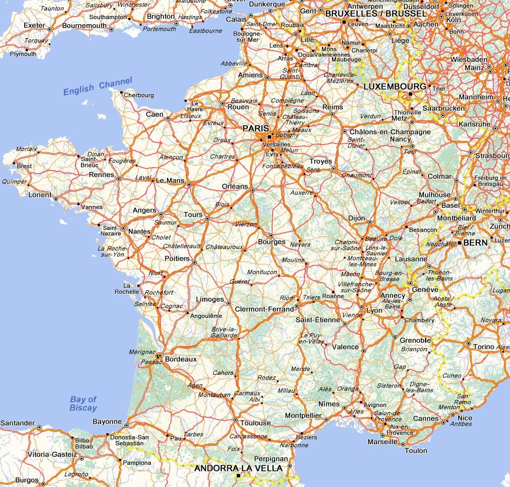 Map Of North West France.Camping Adventures From The North To The South Along The West