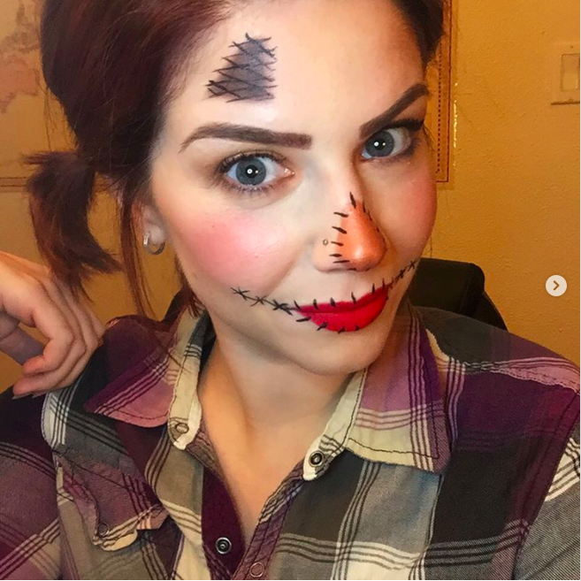 Halloween Makeup Look Using Younique Makeup Why Not Skip The Halloween Isle And Avoid The Halloween Makeup Easy Halloween Makeup For Kids Halloween Makeup Diy