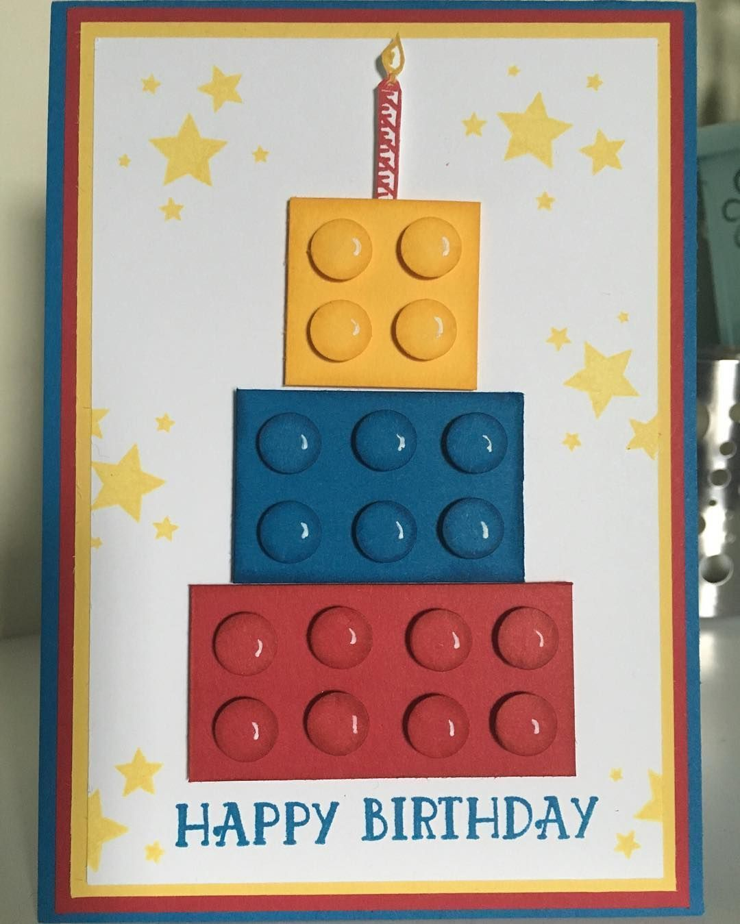 Day 1 Love Lego Week This Fun Brick Birthday Cake Stampninja