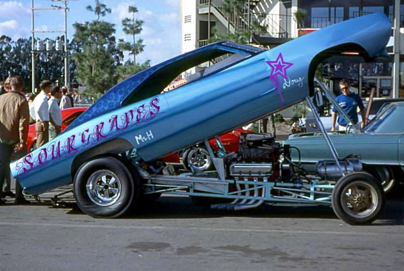 Sour Grapes '69 Charger funny car at OCIR