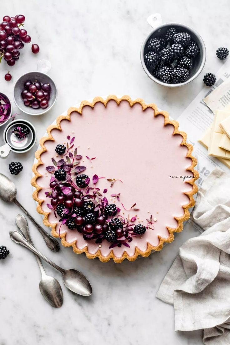 Photo of Blackberry & White Chocolate tart ( Vegan & Gluten-free) | n…