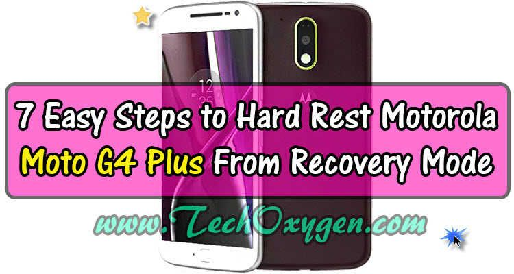 how to factory reset motorola without password
