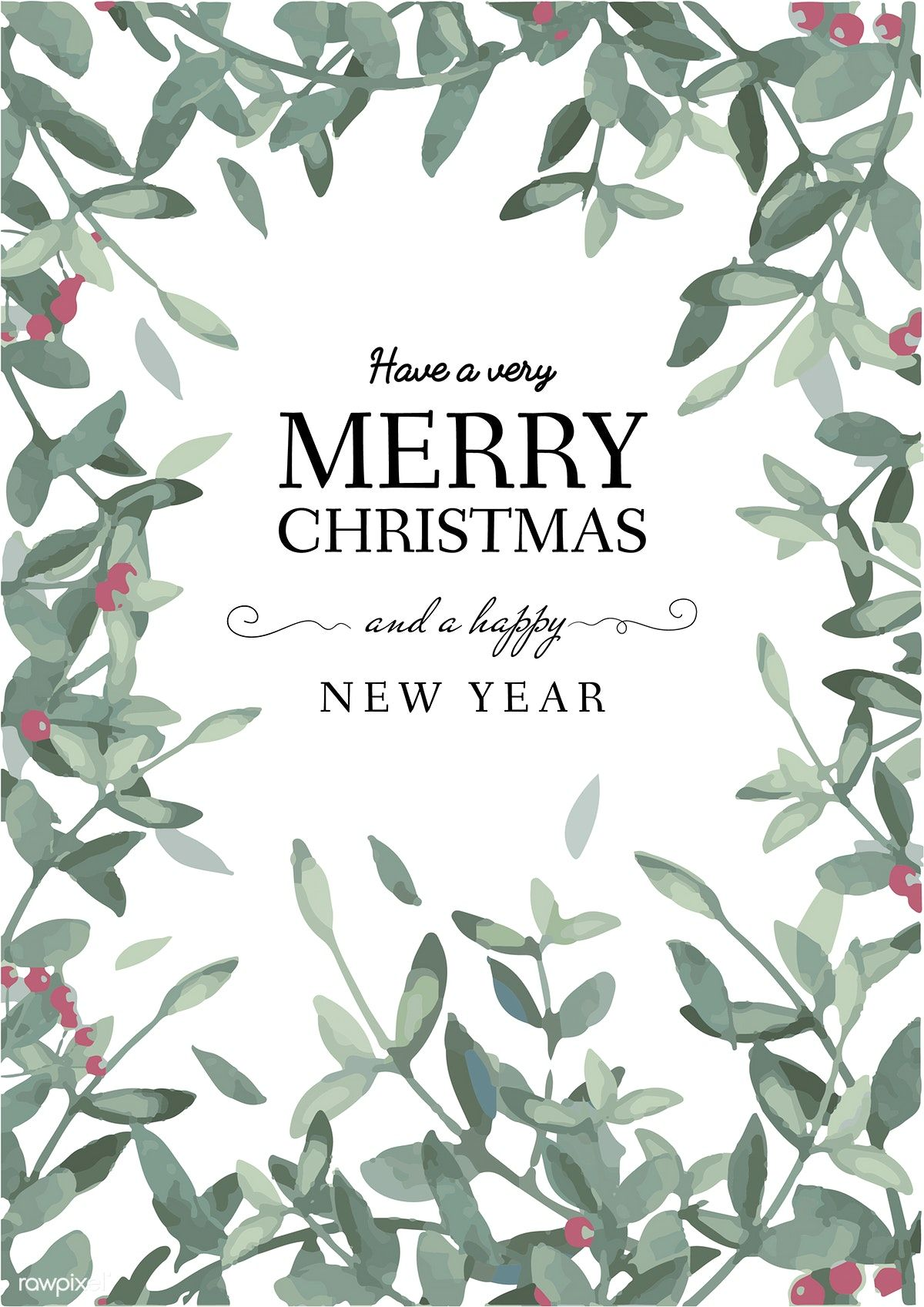 Christmas Greeting Card Template Vector Free Image By Rawpixel Com Christmas Greeting Card Template Free Christmas Greeting Cards Greeting Card Template