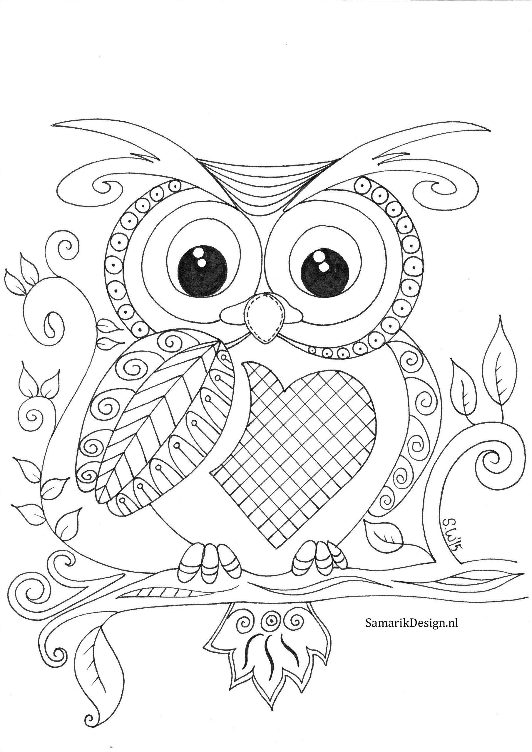 Owl Coloring Pages For Kids Owl Coloring Pages For Adults At Getdrawings Owl Coloring Pages Coloring Books Mandala Coloring Pages
