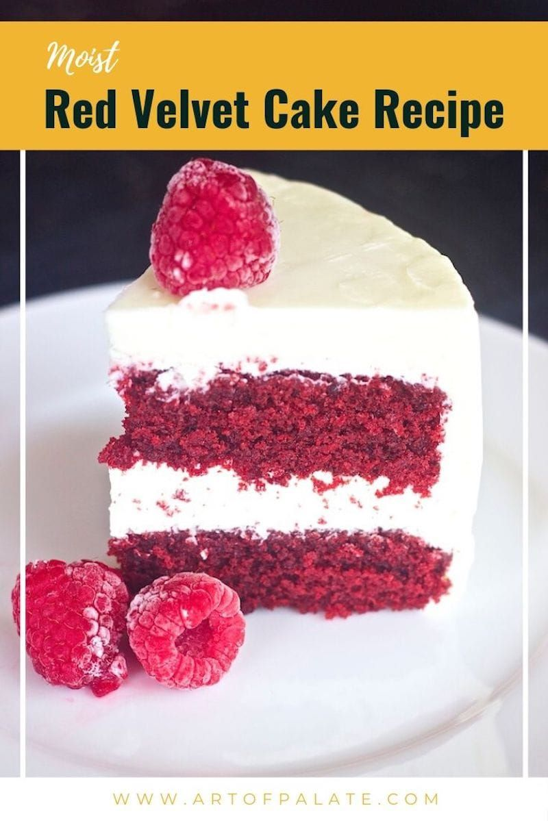 This Red Velvet Cake Recipe With Cream Cheese Frosting Is Incredibly Moist Butter Red Velvet Cake Recipe Velvet Cake Recipes Moistest Red Velvet Cake Recipe