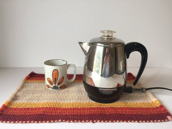 Reserved Esther Vintage Farberware Electric Coffee Pot