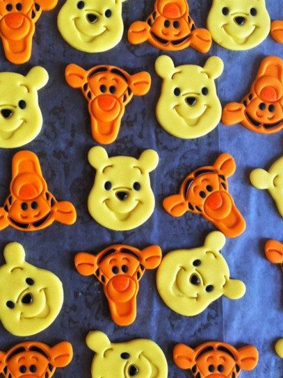 Winnie The Pooh And Tigger Fondant Cupcake Toppers