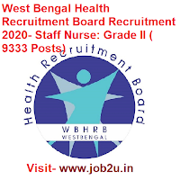 West Bengal Health Recruitment Board Recruitment 2020 Staff Nurse