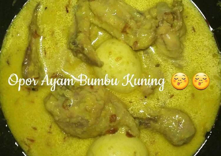 Resep Opor Ayam Bumbu Kuning Oleh Da Bun Kei Resep Ayam Resep Rebusan