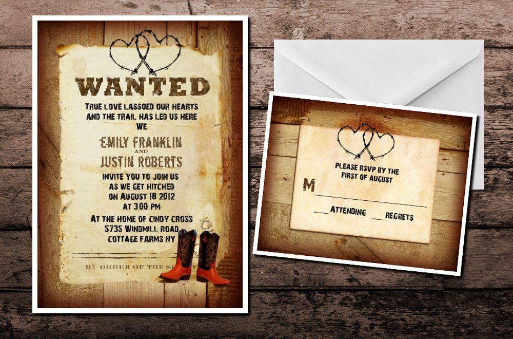 Rustic Country Western Wedding Invitations With Lace Western Wedding Invitations Country Western Wedding Invitations Burlap Wedding Invitations