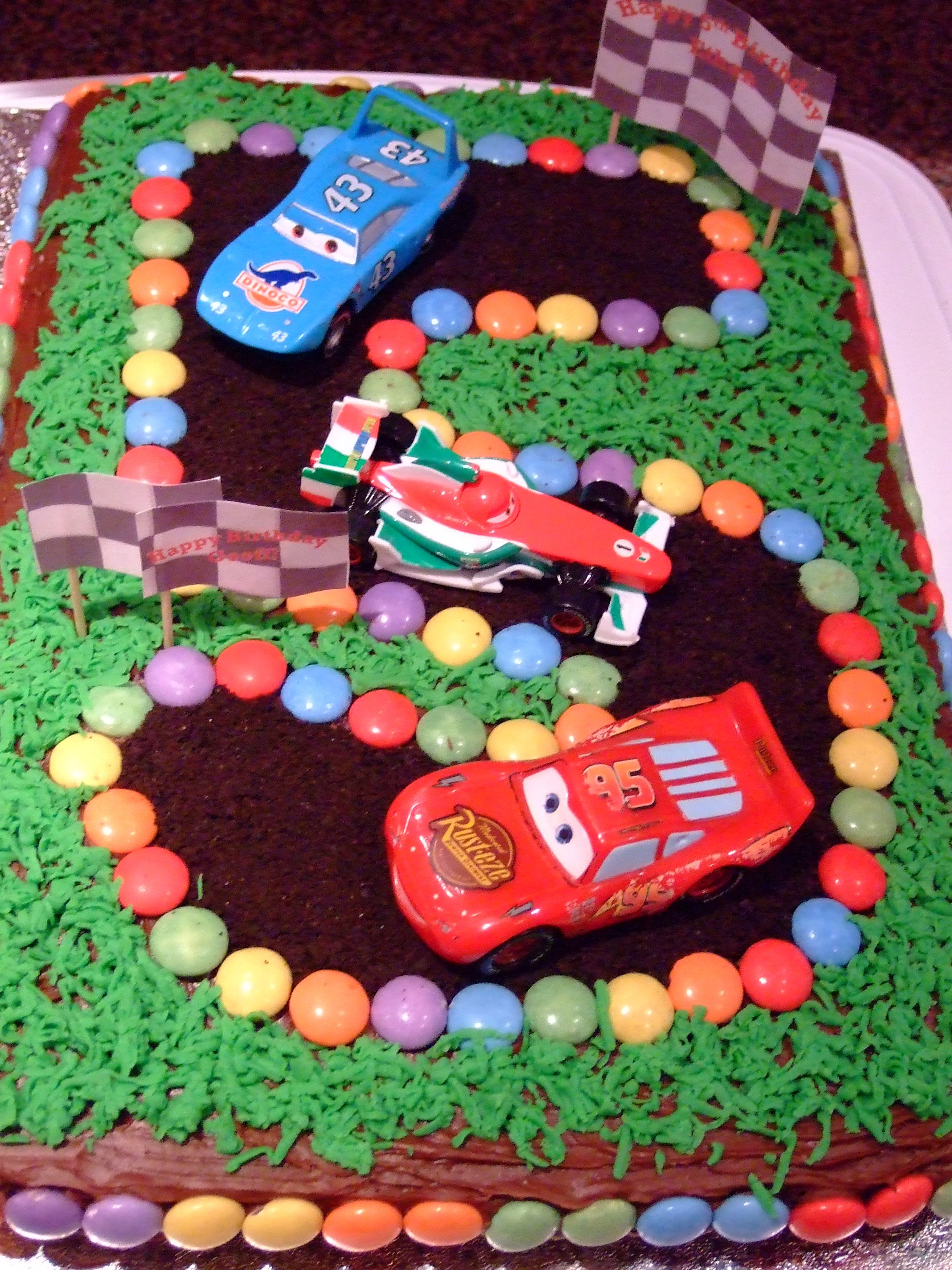 Disney Cars 5th birthday cake