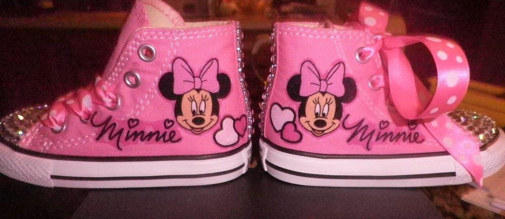 356450d28d1436 Converse Minnie Mouse Custom Chuck Taylor Hi Top Infant Toddler Pink Size  2-10 #Converse #Athletic