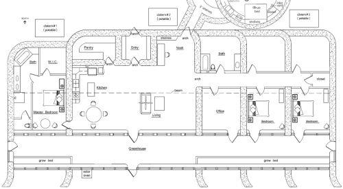 Earthship Home Floor Plans: Custom Zero Energy 4