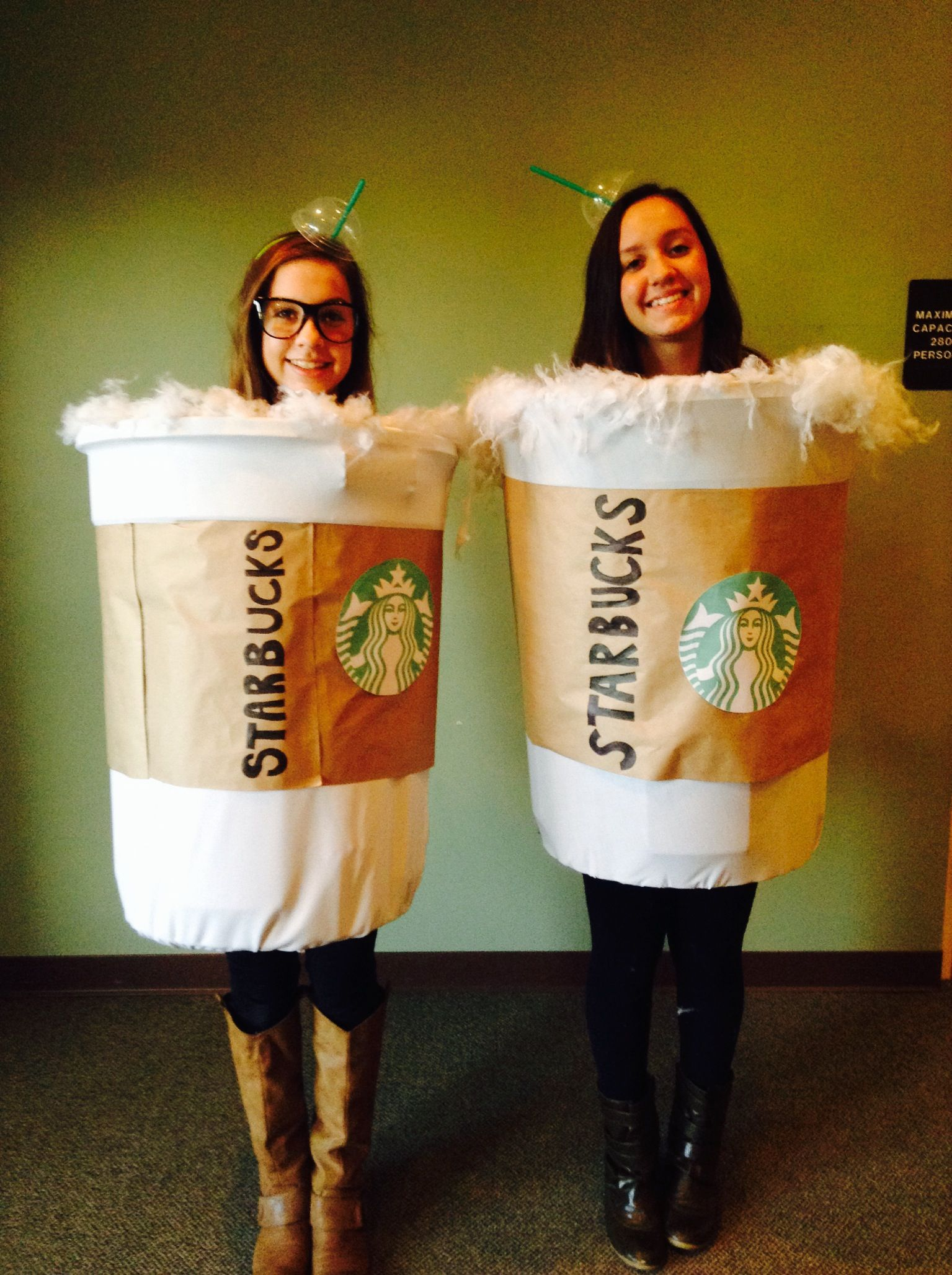 Starbucks Halloween costume idea! Made with a plastic garbage can ...