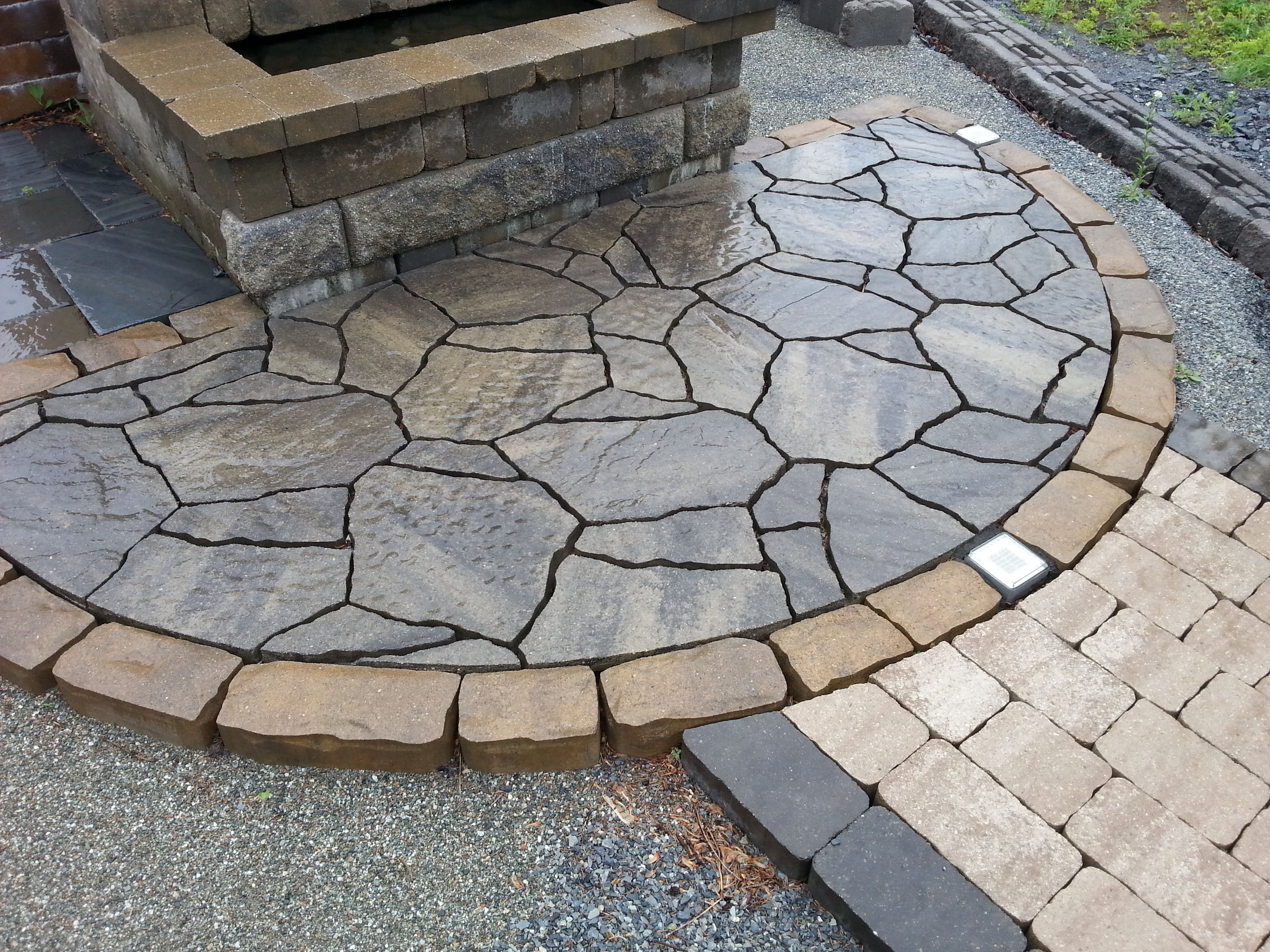Belgard Mega Arbel In Sable Blend For The Front Patio
