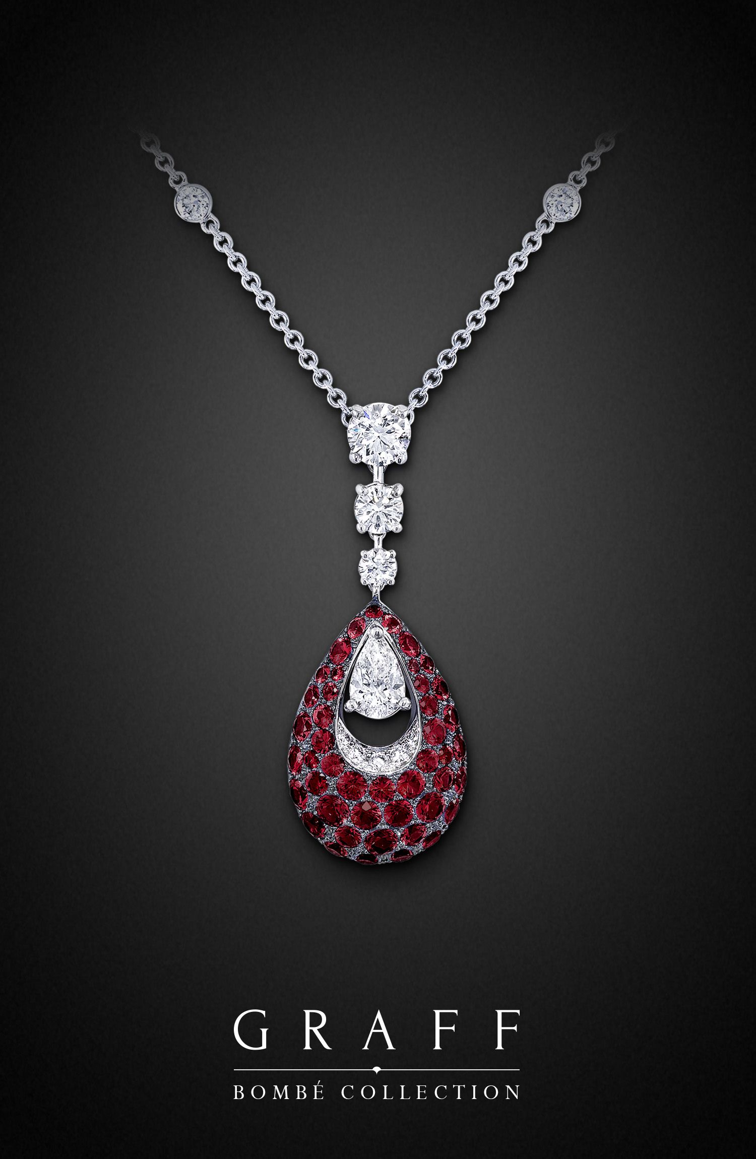 Graff Diamonds: Bombé Teardrop Pendant