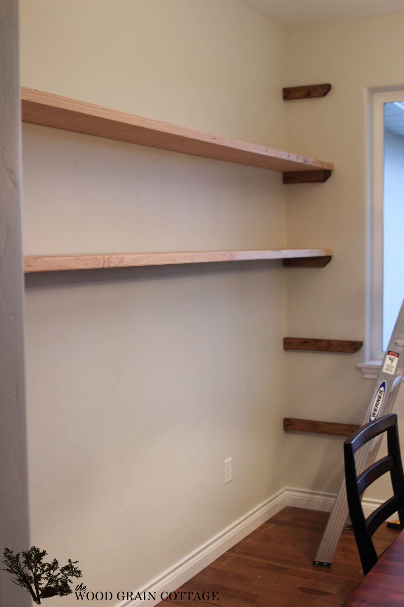 DIY Dining Room Open Shelving | Diy küche, Schlafzimmer ideen und Kammer
