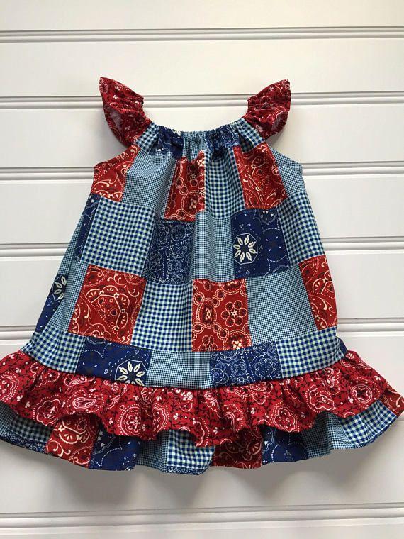 082c5987b Cowgirl Dress, Baby Girl Dress, Girl Western Dress, Toddler Dress, Red  Bandana Girl Western Wear, Gi