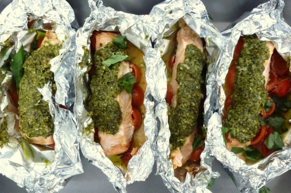 Salmon and Pesto Parcels   Recipe   Fodmap Fodmap recipes ...
