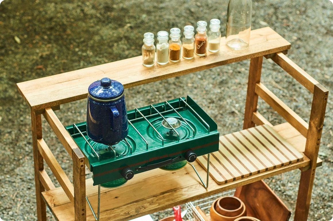 作り方 キャンプギアをdiy 変幻自在に使える木製キッチンテーブル Hondaキャンプ キッチンテーブル テーブル 作り方 キャンプ テーブル 自作