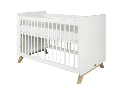 Bopita Lynn Design Ledikant 60x120 Wit Naturel Babykamer