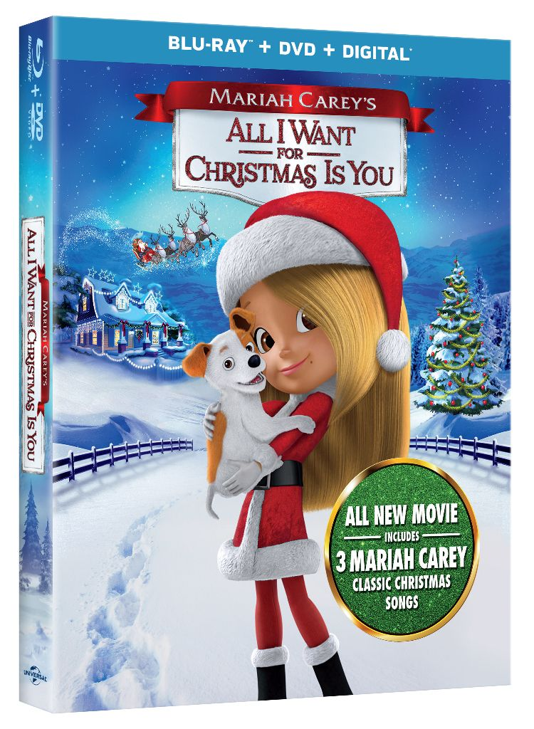 Mariah Carey All I Want For Christmas On Blu Ray Now Alliwantmovie My Four And More Mariah Carey Classic Christmas Songs Mariah Carey Christmas