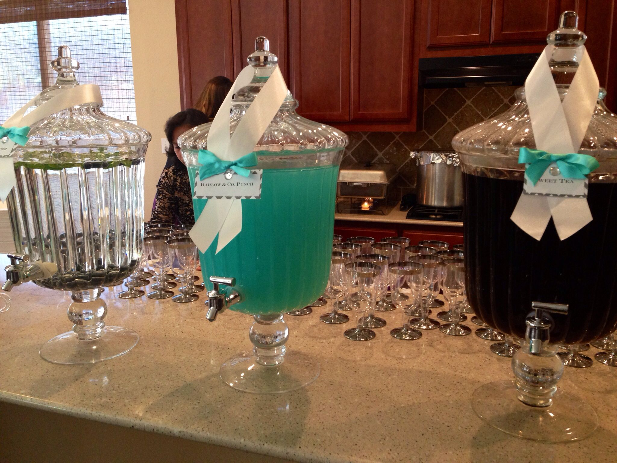 Tiffany blue punch: 3/4 Blue Hawaiian Punch to 1/4 lemonade ...