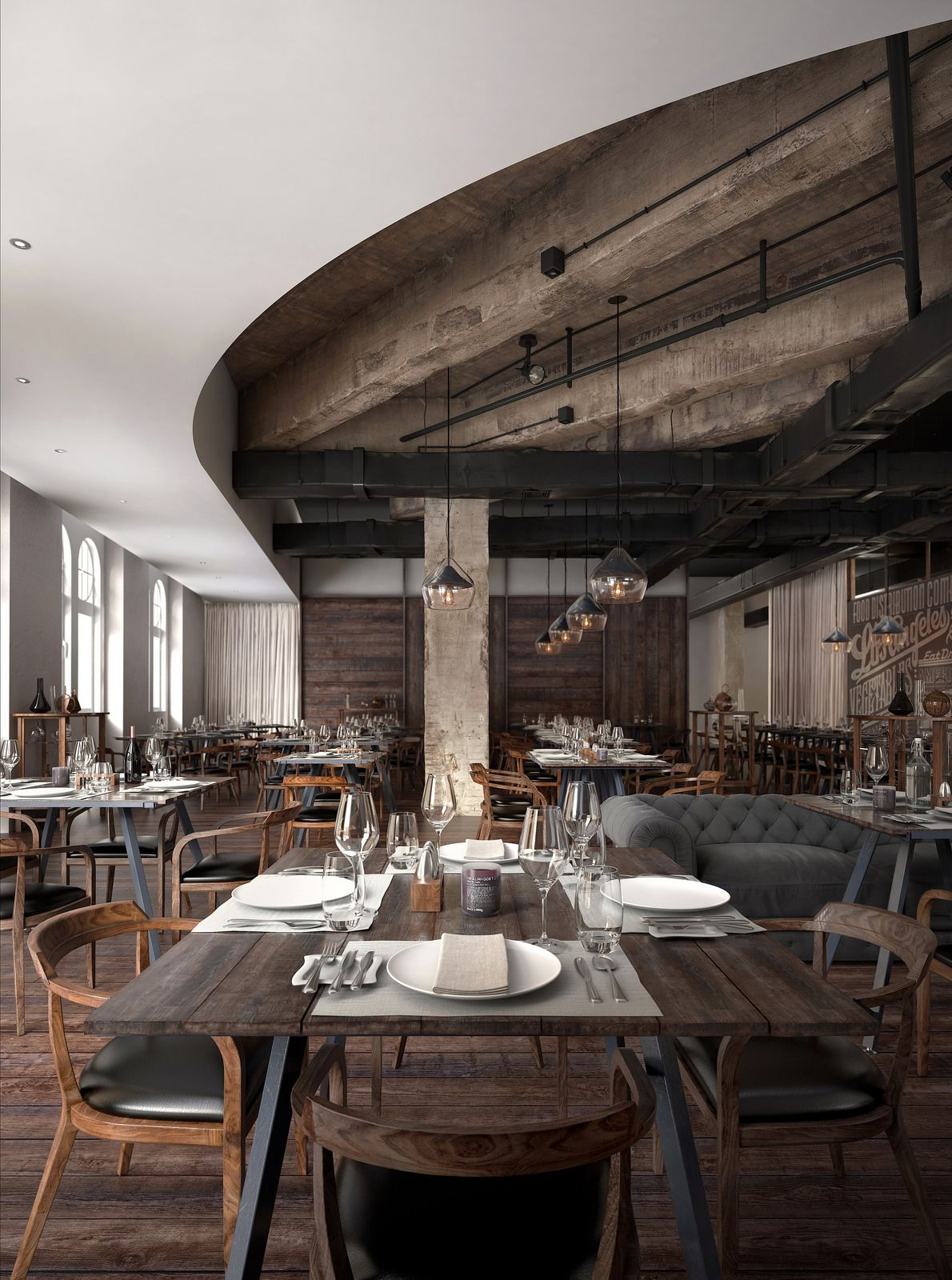 mercato restaurant | vicky bedford | best photo real 3d renders