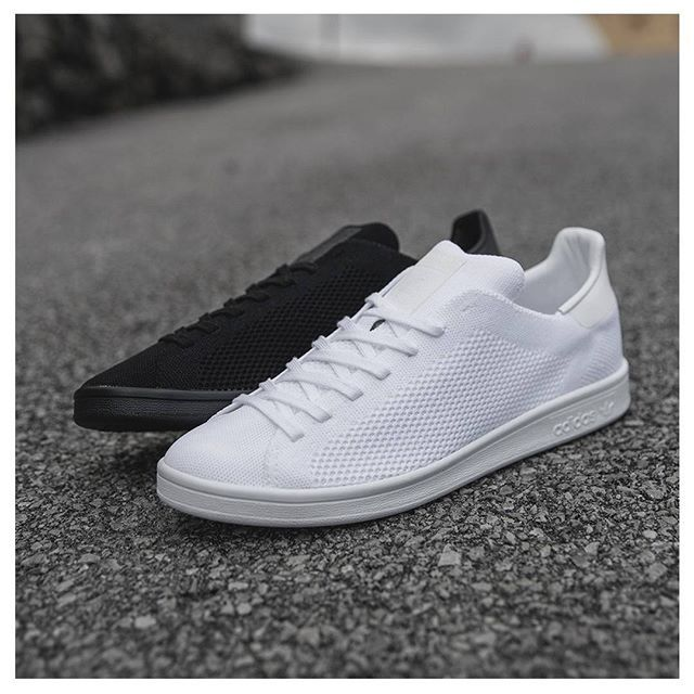 41f401bf50c3  adidasoriginals drop monochrome versions of the  primeknit Stan Smith  priced at 95 online and in size  stores -  sizeHQ by sizeofficial