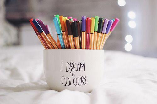 I dream in colours