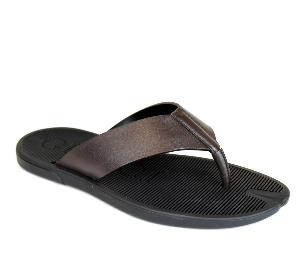 b6f7eb1ce80c6b New Authentic Gucci Mens Leather Thong Sandals