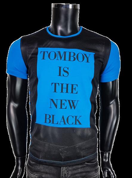 9c707b00ee T-Shirt męski z siatką - Niebieski - T-shirty męskie - Awii