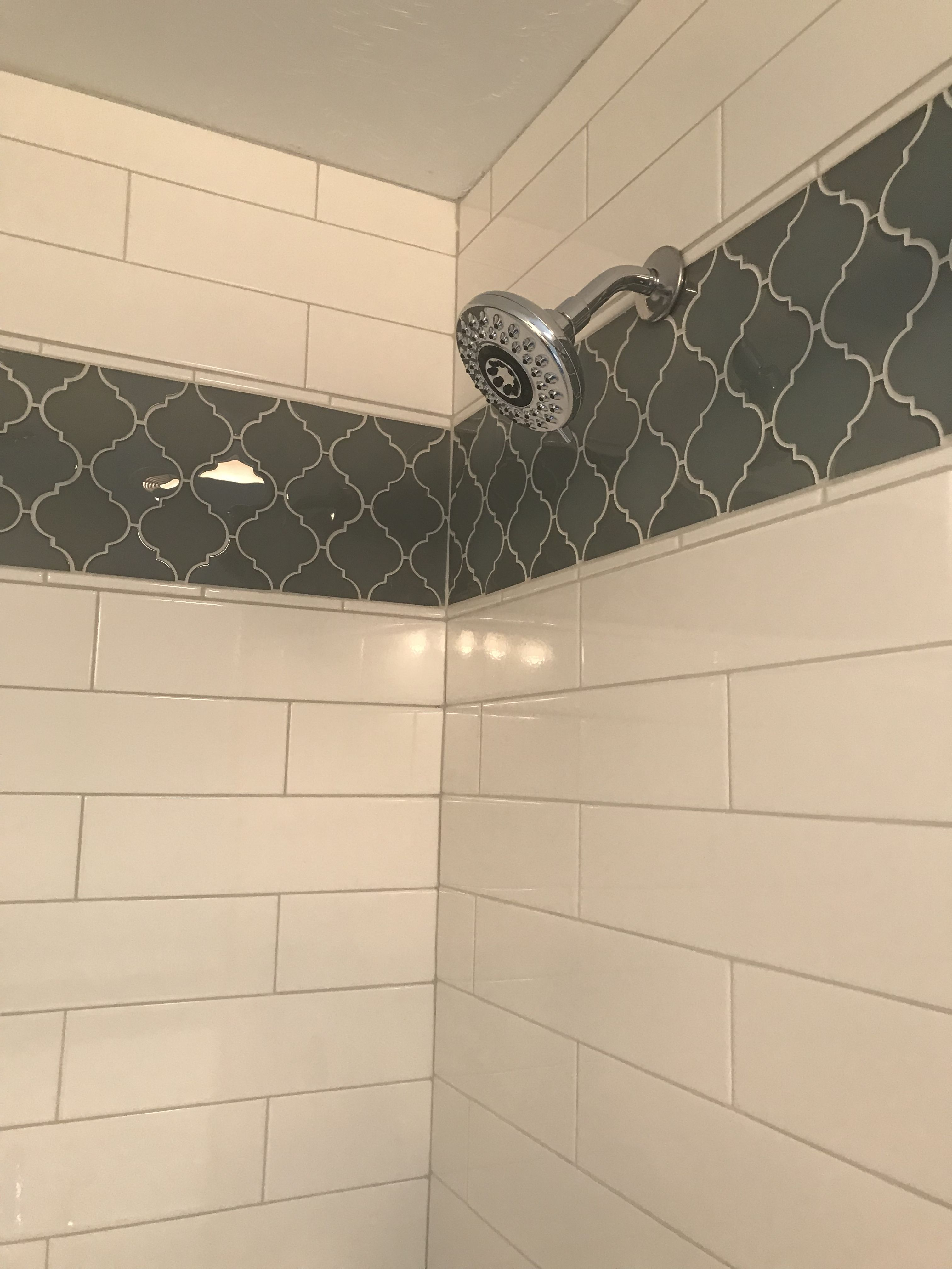 Shower White Subway Tile With