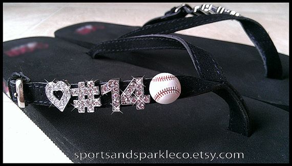 7ead26f034bc0d Personalized Rhinestone Flip Flops with by SportsandSparkleCo ...