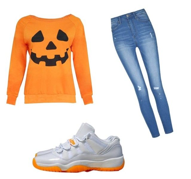 """""""dumb halloween was here"""" by her-name-jayla ❤ liked on Polyvore featuring NIKE"""